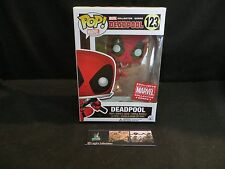 Marvel Collectors Corps exclusive Deadpool Box Funko POP Deadpool leaping figure