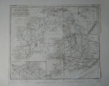 """1843 Map of Navigable Rivers, Canals & Railroads of Britain-24 1/2"""" x 20 3/4"""""""