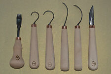 spoon carving tools, hook, crook tools - handmade by Gilles, Lithuania