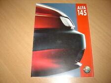 DEPLIANT Alfa Roméo 145 de 1994