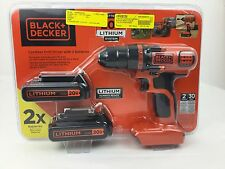 BLACK+DECKER LDX120C-2 20V CORDLESS DRILL/DRIVER WITH 2 BATTERIES NEW