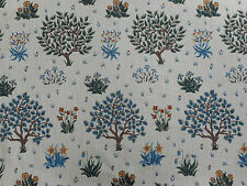 William Morris Curtain Fabric 'Orchard' 2.8 METRES (280cm) Olive/Gold - Linen