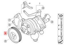Genuine BMW E60 E60N E61 E61N E63N E64N Steering Pump Pulley OEM 32427795298