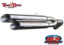 13 - 15 NEW CAN-AM SPYDER GS RS VOODOO POLISHED SHORTY DUAL EXHAUST MUFFLER