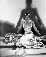 AFRICAN AMERICAN ART PRINT Josephine Baker on Tiger Rug 1925 McMahan Photo