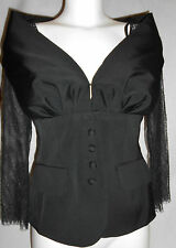 NEW Luisa Spagnoli Womens Black lace Blazer Jacket Size:42 RRP £299