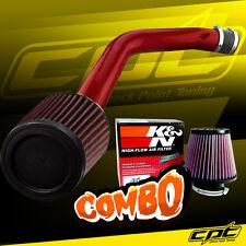 03-07 Honda Accord 3.0L V6 Red Cold Air Intake + K&N Air Filter