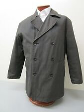 POLO RALPH LAUREN Wool Lined Cotton Chino Gun Metal Gray DB Peacoat Size M