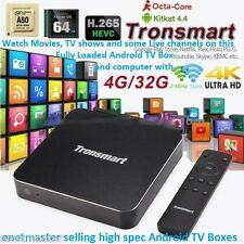 FULLY LOADED! Android TV Box Tronsmart Draco AW80 Telos 4G/32G IPTV PC MOVIE XXX