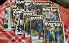 Everton home season programmes from 2010 to 2011 season Jan to may 10 progs