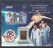 : Mali, 2011 issue. Challenger Space, IMPERF s/sheet.
