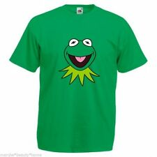 KID'S kermit retro t shirt top 9-11 years child clothes muppets green tee