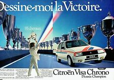 PUBLICITE ADVERTISING 027  1982  la Visa II  chrono Citroen (2p)