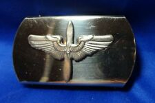 WWII to Korean War Army and USAF Air Force Wings Brass Belt Buckle