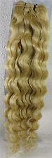 """New Women AAA+ Remy Curly Deep 18""""~26"""" Weft  Human Hair Extensions Weave 100gr"""