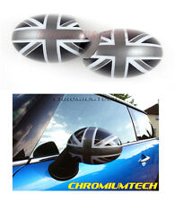 BLACK UNION JACK MIRROR CAP COVER for MK1 MINI Cooper/S/ONE LHD France/Germany