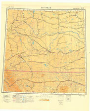 Russian Soviet Military Topographic Maps  - LETHBRIDGE (Canada), 1:1M, ed.1950