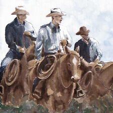 Cowboy Riders in Tall Grass -  ONLY $4 - Wallpaper Border 713