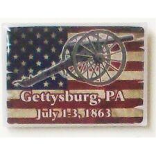 GETTYSBURG CIVIL WAR RUSTIC FLAG LAPEL PIN NEW