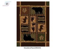 Fall Lodge black bear rug for the home 5x8 New just in!!!!