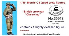 LZ MODELS MORRIS C8 QUAD  - BRITISH CREWMAN OBSERVING Scala 1/35 Cod.35918