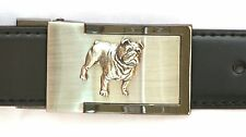 British Bulldog Belt Buckle and Leather Belt in Gift Tin Ideal Dog Lover Present