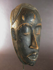 SOPHISTICATED OLD PORTRAIT MASK TRIBAL BAULE COTE D'IVOIRE AFRICAN