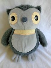 "Plush Gray OWL Aesops Fables 9.5"" Kohl's Cares 2012 Stuffed Animal Toy"