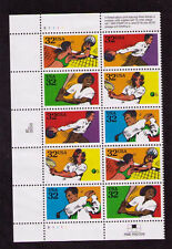 US USA Sc# 2965a MNH FVF PL# BLOCK Sports Bowling Volleyball Golf Tennis