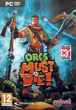 ORCS MUST DIE! - PC GAME *** Brand New & Sealed ***