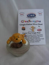 WADE-GINGIE-NATION SILVER HEART LE 20 I LOVE YOU GINGIE BEAR