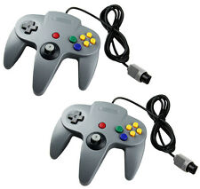 2 x Gray Controller Gamepad Joystick System FOR NINTENDO 64 N64 Game Mario Kart