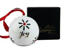 "A.REYNAUD LIMOGES 1992 PORCELANE ""JOY"" CHRISTMAS ORNAMENT NEW BOX MADE IN FRANCE"