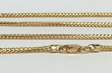 18k Solid Yellow Gold Franco ItalyChain Necklace Diamond Cut 24 Inches,9.07grams