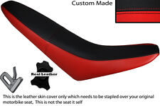 BLACK & RED CUSTOM FITS MZ 125 SM LEATHER DUAL SEAT COVER ONLY