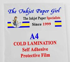 A4 Frío Laminación doble cara 5 Hojas película protectora autoadhesiva