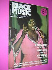 BLACK MUSIC MAGAZINE. JUNE 1975. GLORIA GAYNOR FRONT COVER. REGGAE. SOUL