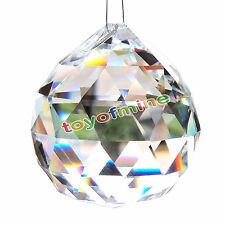 20mm 0.8in Clear Glass Crystal Ball Chandelier Prism Lamp Lighting Pendant Decor
