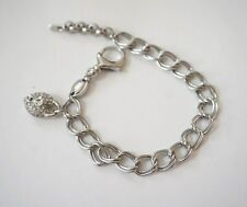 NWOT Fossil Link Chain Charm Bracelet (Silver)