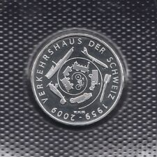 """SWITZERLAND 20 FRANCS 2009 """"50 years of Swiss Museum of Transport"""" SILVER UNC"""