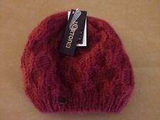 NWT Burton Hand Knit Womens Honeycomb Beanie Redwood Red One Size No Pom NEW