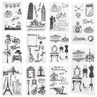 1 Sheet Silicone Transparent Clear Stamp Mixed DIY Scrapbooking Decorating Gift