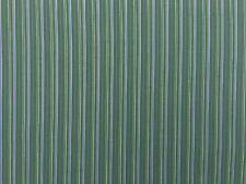 Green And Blue Striped Cotton Sewing Fabric Craft Sheers Bed Sheets Decorating