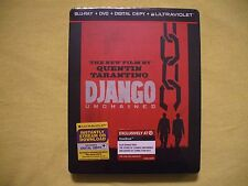 Django Unchained Steelbook Blu-ray + DVD + bonus Target exclusive BRAND NEW mint