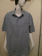 MARKS & SPENCER - BLUE CHECKED Shirt Size 16.5 NECK 100% COTTON