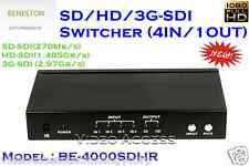 BENESTON SD/HD/3G-SDi Switcher / Broadcast / 4 in 1 out Switch /IR Remote
