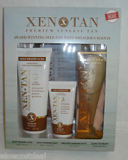 XEN TAN SUNLESS SELF TANNING KIT MEDIUM DEEP BRONZE LUXE 8oz/FACE+ GOLDEN GLOW