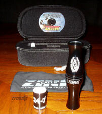 FRED ZINK CALLS POWER SPECK SPECKLEBELLY GOOSE CALL+CASE+BAND BLACK NEW!