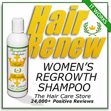 NATURAL HAIR RENEW SHAMPOO loss regrowth regrow treatment thin stop shedding dht