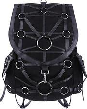 Black O-Ring Harness Backpack Purse Occult Gothic Punk Alternative Bondage Metal